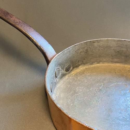 LNER Large Heavy Antique Copper Sauté Frying Pan image-6