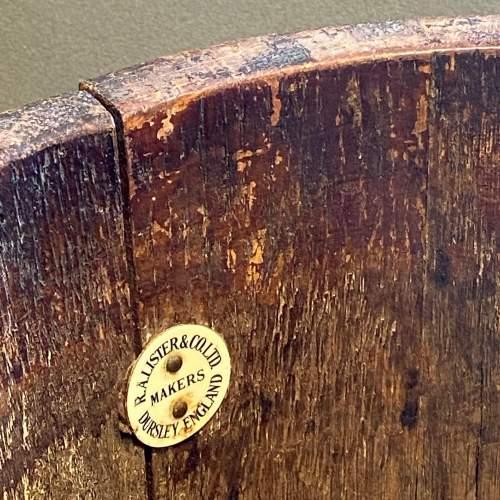 RA Lister Copper Bound Coopered Oak Barrel image-2