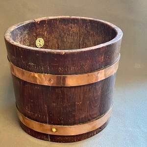 RA Lister Copper Bound Coopered Oak Barrel