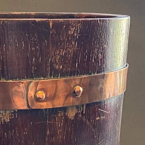 RA Lister Copper Bound Coopered Oak Barrel image-3