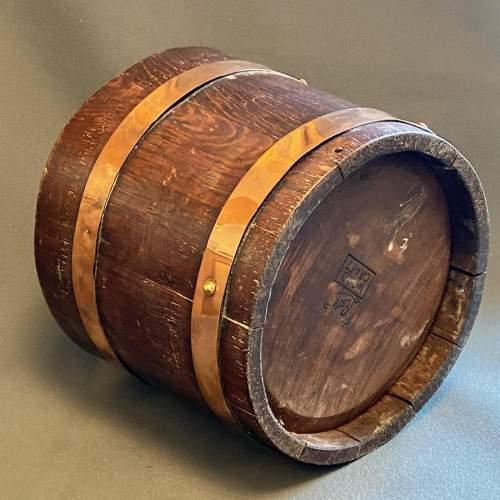 RA Lister Copper Bound Coopered Oak Barrel image-4