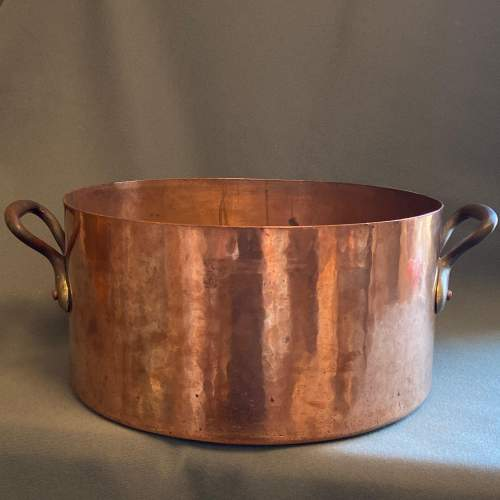 Victorian Large Heavy Copper Cooking Vessel image-1