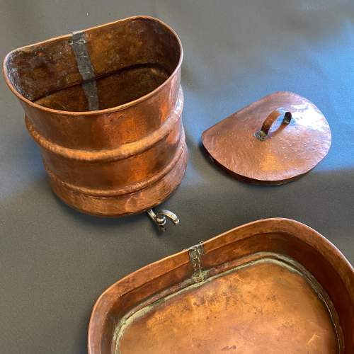 1930s French Copper Water Container and Basin image-3