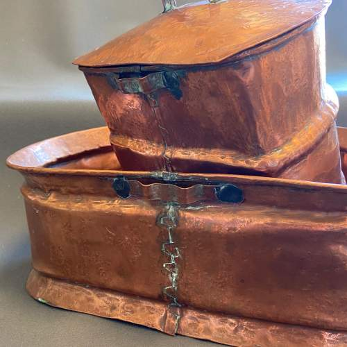 1930s French Copper Water Container and Basin image-5
