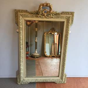 Large French Painted Mirror Circa 1900
