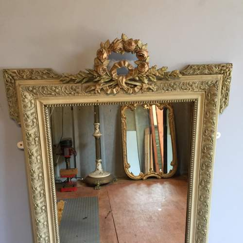 Large French Painted Mirror Circa 1900 image-2