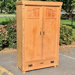 Victorian Continental Pine Double Cupboard Wardrobe