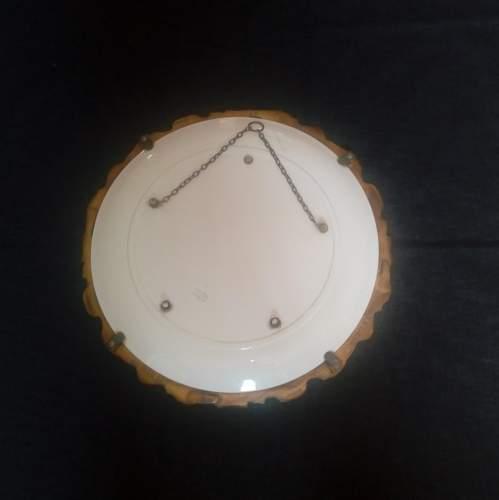 Brass Framed Chintz Porcelain Convex Wall Mirror image-5