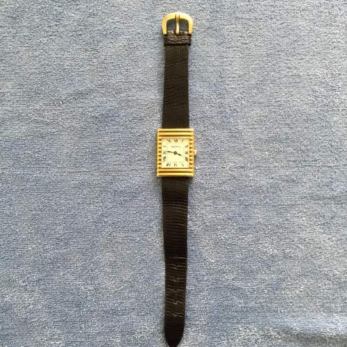 A 1970s Solid Silver Gold Plated Ladies Tank Style Wristwatch image-4