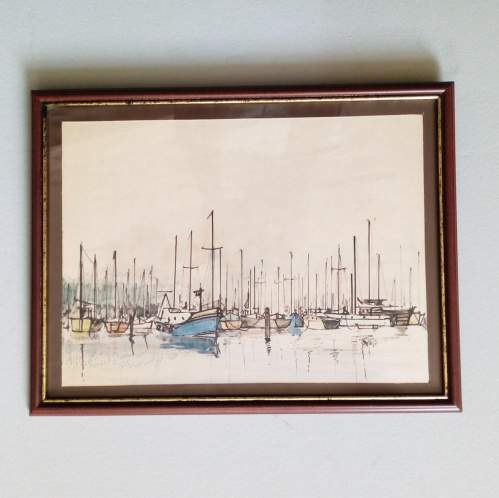 Boats off Yarmouth IOW by Peter Jones image-1