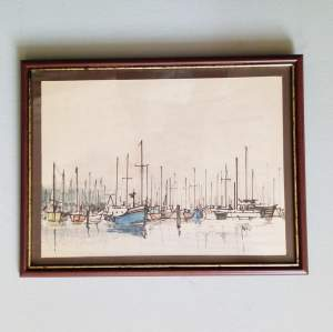Boats off Yarmouth IOW by Peter Jones