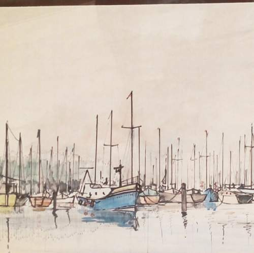 Boats off Yarmouth IOW by Peter Jones image-2