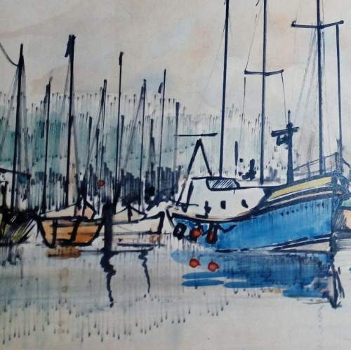 Boats off Yarmouth IOW by Peter Jones image-3