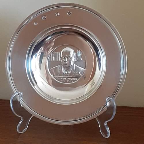 Vintage Solid Silver Winston Churchill Armada Dish image-1