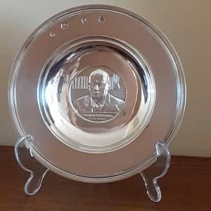 Vintage Solid Silver Winston Churchill Armada Dish