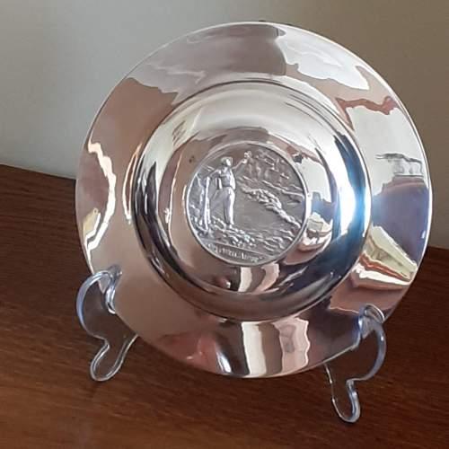 Vintage Solid Silver Winston Churchill Armada Dish image-4