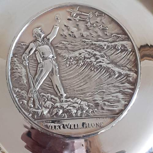 Vintage Solid Silver Winston Churchill Armada Dish image-5