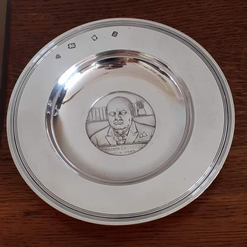 Vintage Solid Silver Winston Churchill Armada Dish image-6