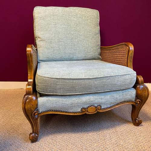 Early 20th Century Bergere Suite of Sofa and Two Armchairs image-2