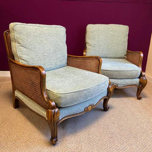 Early 20th Century Bergere Suite of Sofa and Two Armchairs image-3