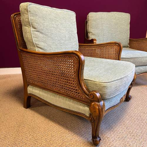 Early 20th Century Bergere Suite of Sofa and Two Armchairs image-4
