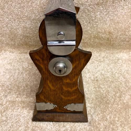 Late Victorian Oak Three Bottle Tantalus image-3