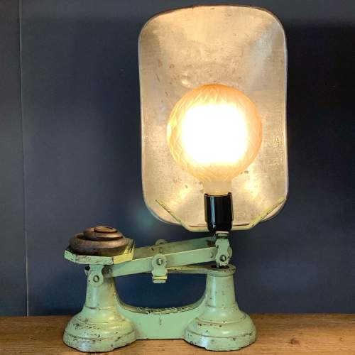 Vintage Upcycled Weighing Scales Lamp image-1
