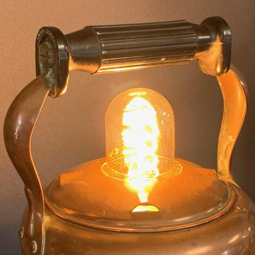 Vintage Upcycled Copper Kettle Lamp image-2