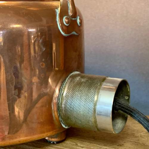 Vintage Upcycled Copper Kettle Lamp image-3