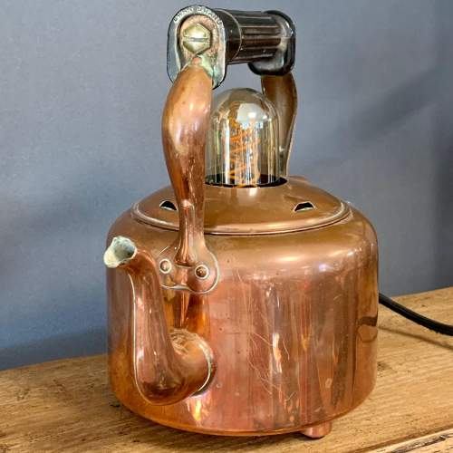 Vintage Upcycled Copper Kettle Lamp image-4