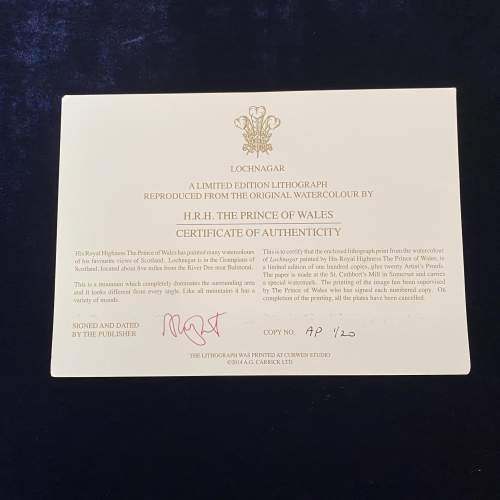 Rare HRH Prince Charles signed Ltd Edition Artists Proof Print image-5
