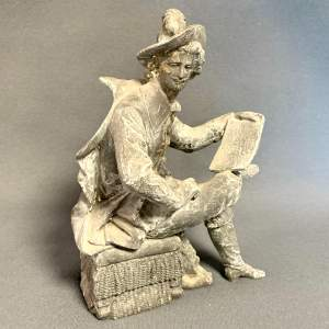 Lead Statuette Figure