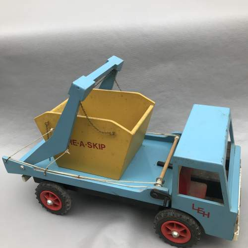 Hand Built Wooden Skip Lorry image-2
