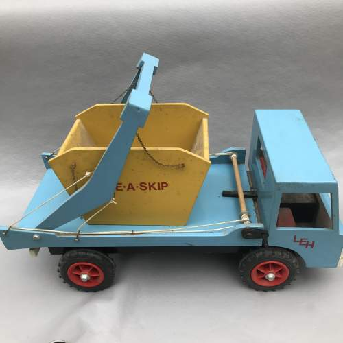 Hand Built Wooden Skip Lorry image-1