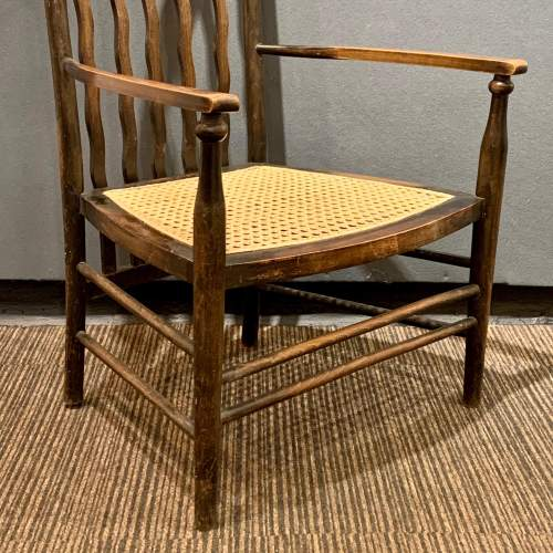 Morris and Co Liberty Cane Seated Armchair image-2