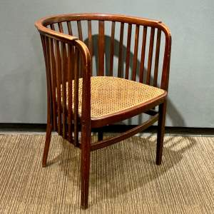 20th Century Stained Beech Chair Designed by Marcel Kammerer for Thonet