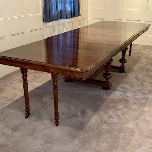 Late 19th Century Large French Extending Dining Table