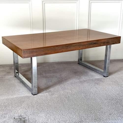 Mid Century Chrome Coffee Table - manner of Merrow Associates image-1