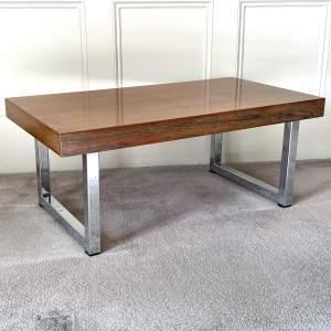 Mid Century Chrome Coffee Table - manner of Merrow Associates