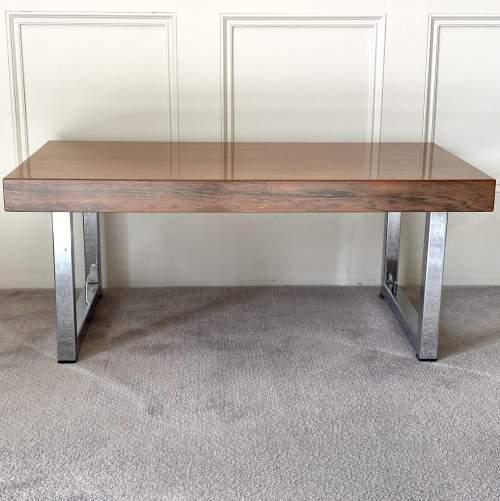 Mid Century Chrome Coffee Table - manner of Merrow Associates image-2
