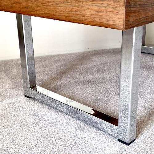 Mid Century Chrome Coffee Table - manner of Merrow Associates image-3