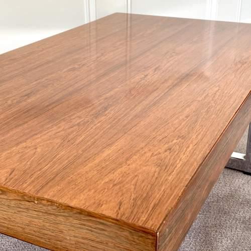 Mid Century Chrome Coffee Table - manner of Merrow Associates image-4