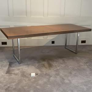 Mid Century Chrome Writing Table - manner of Merrow Associates