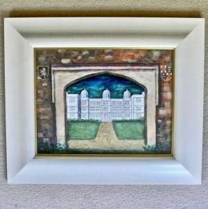 Painting of Doddington Hall Lincoln - Through the Gateway