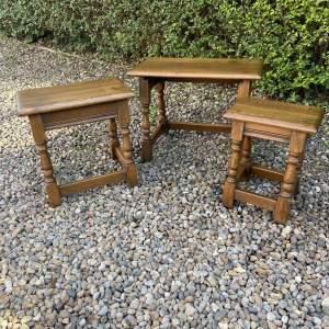 Stylish Oak Nest of Tables