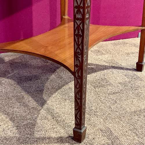 1920s Mahogany Chip Carved Bijouterie Table image-4