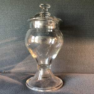 Victorian Lidded Glass Sweet Jar