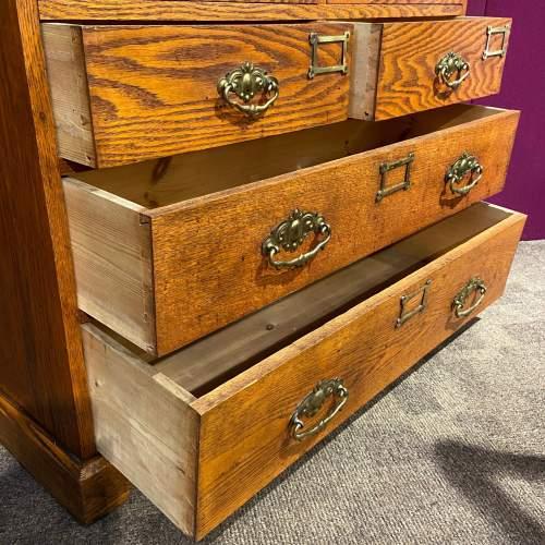 Unusual Late Victorian Two Part Oak School Cabinet image-5
