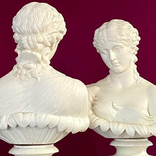 Pair of Mid 19th Century Copeland Parian Busts of Clytie image-2