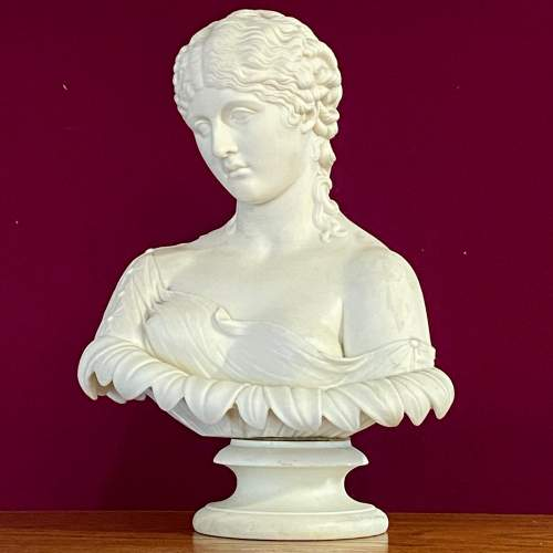 Pair of Mid 19th Century Copeland Parian Busts of Clytie image-3
